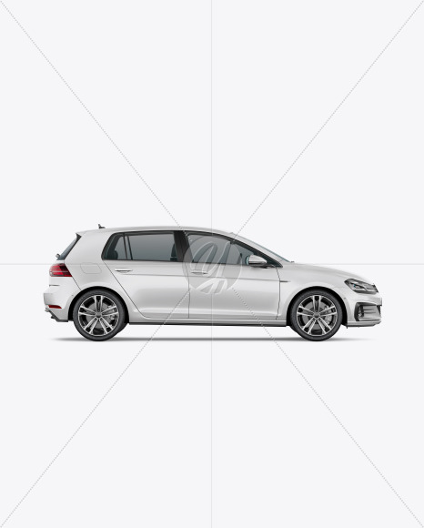 Compact Car Mockup - Side View - Yellowimages Mockups