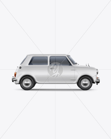Retro Сoupe Car - Side View - Yellowimages Mockups
