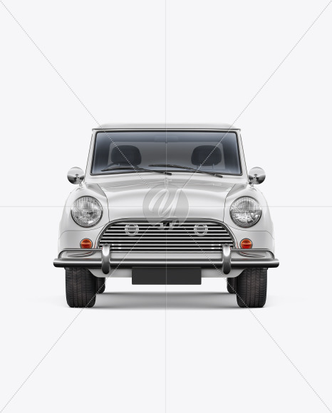 Retro Сoupe Car - Front View - Yellowimages Mockups