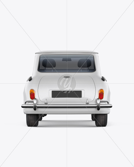 Retro Сoupe Car - Back View - Yellowimages Mockups