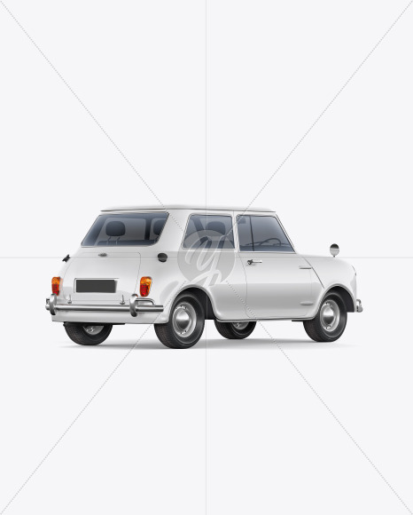 Retro Сoupe Car - Back Half Side View - Yellowimages Mockups