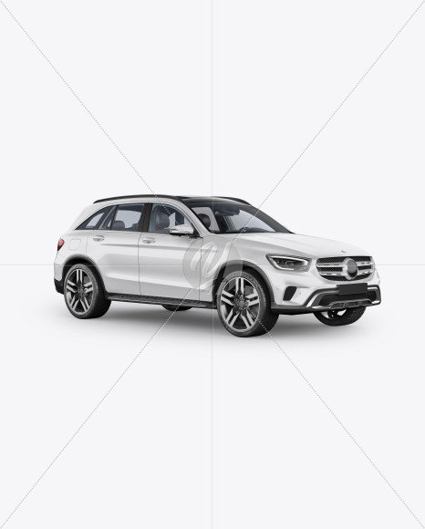 Compact Crossover SUV Mockup - Half Side View - Yellowimages Mockups