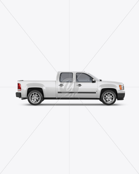 Full-Size Pickup Truck Mockup - Side View - Yellowimages Mockups