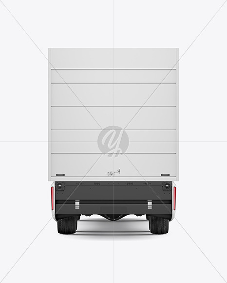 Electric Truck Mockup - Back View - Yellowimages Mockups