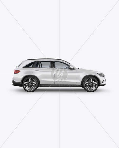 Compact Crossover SUV Mockup - Side View - Yellowimages Mockups