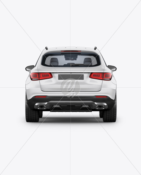 Compact Crossover SUV Mockup - Back View - Yellowimages Mockups