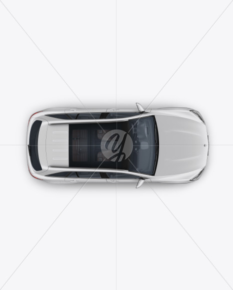Compact Crossover SUV Mockup - Top View - Yellowimages Mockups