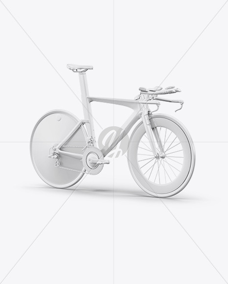 Carbon Triathlon Bicycle Mockup - Halfside View - Yellowimages Mockups