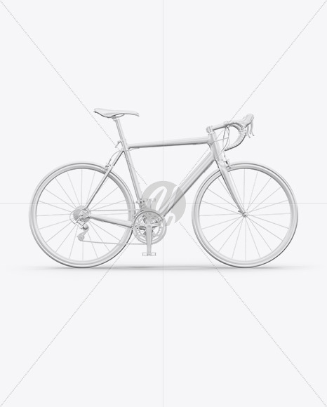 Road Universal Bicycle Mockup - Right Side View - Yellowimages Mockups