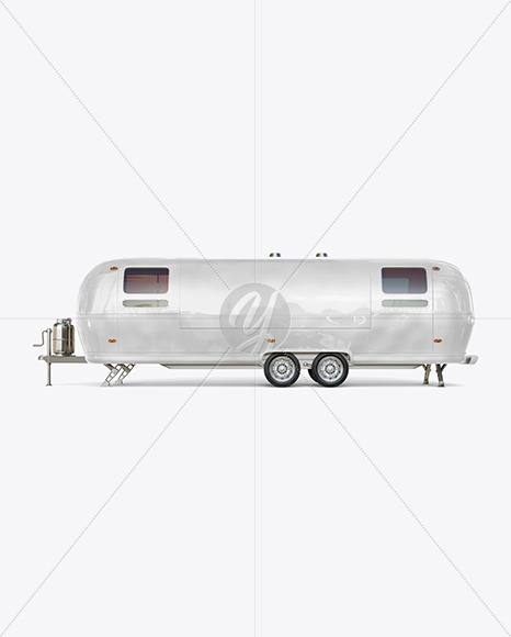 Food Trailer Mockup - Side View - Yellowimages Mockups