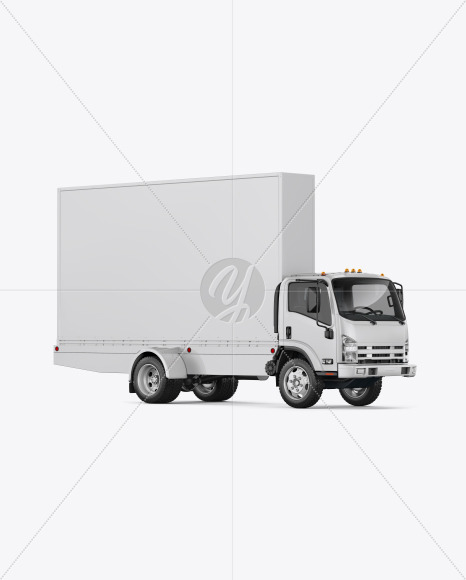 Mobile Billboard Mockup - Front View - Yellowimages Mockups