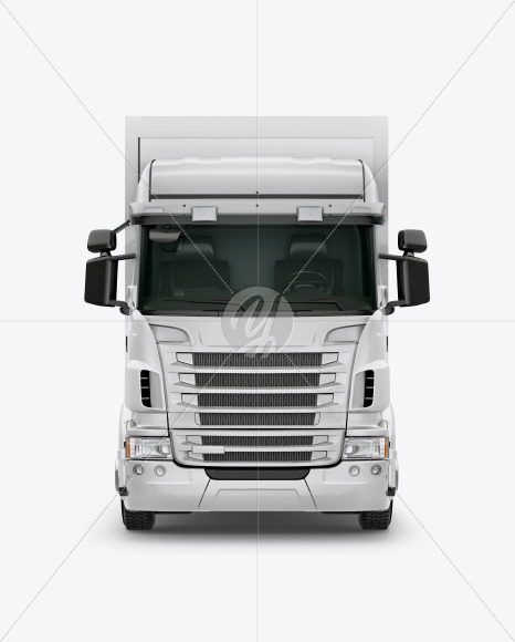 Truck Mockup - Front View - Yellowimages Mockups