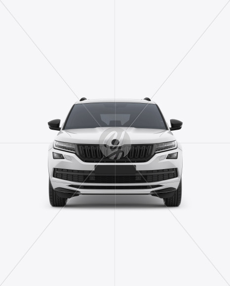 SUV Crossover Car Mockup - Front View - Yellowimages Mockups