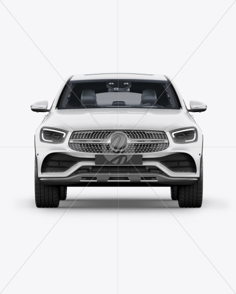 Coupe Crossover SUV Mockup - Front View - Yellowimages Mockups