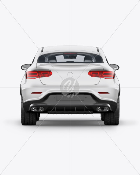 Coupe Crossover SUV Mockup - Back View - Yellowimages Mockups