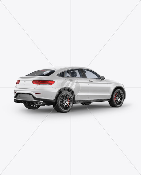 Coupe Crossover SUV Mockup - Back Half Side View - Yellowimages Mockups