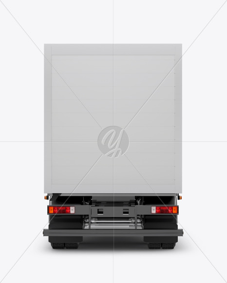 Truck Mockup - Back View - Yellowimages Mockups