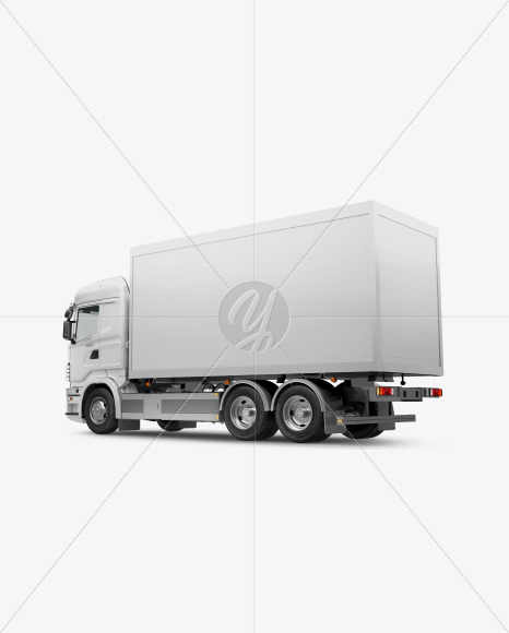 Truck Mockup - Back Half Side View - Yellowimages Mockups