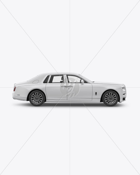 Luxury Car Mockup - Side View - Yellowimages Mockups