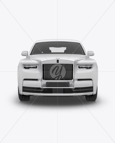 Luxury Car Mockup - Front View - Yellowimages Mockups