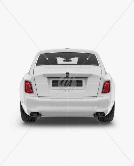 Luxury Car Mockup - Back View - Yellowimages Mockups