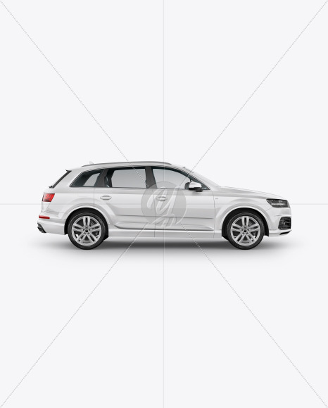 Crossover SUV Mockup - Side View - Yellowimages Mockups