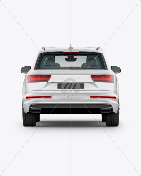 Crossover SUV Mockup - Back View - Yellowimages Mockups