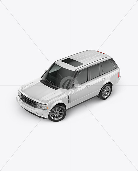 Crossover SUV Mockup - Top Half Side View - Yellowimages Mockups
