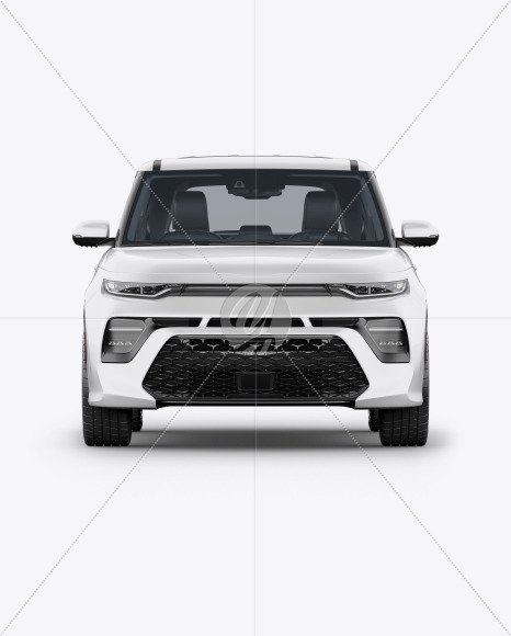 Compact Car Mockup - Front View - Yellowimages Mockups