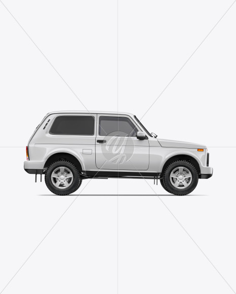 Off-Road SUV Mockup - Side View - Yellowimages Mockups