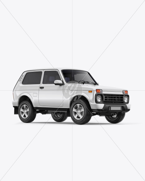 Off-Road SUV Mockup - Half Side View - Yellowimages Mockups