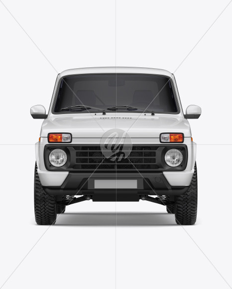 Off-Road SUV Mockup - Front View - Yellowimages Mockups