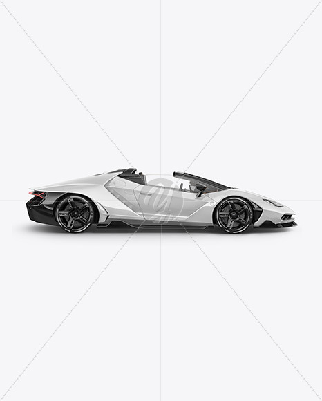 Super Car Mockup - Side View - Yellowimages Mockups