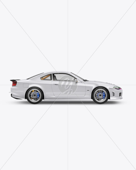 Sport Car Mockup - Side View - Yellowimages Mockups