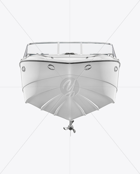 Sea Boat 24 ft. Mockup - Front View - Yellowimages Mockups