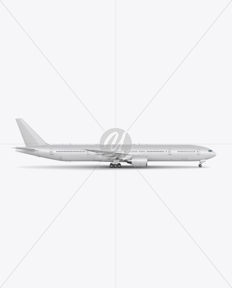 Airliner Mockup - Side View - Yellowimages Mockups