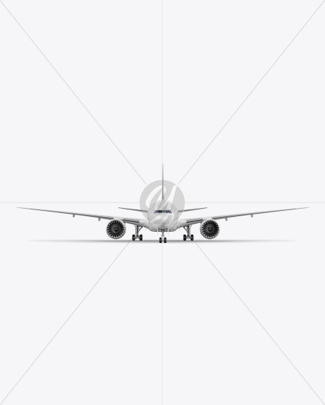 Airliner Mockup - Front View - Yellowimages Mockups
