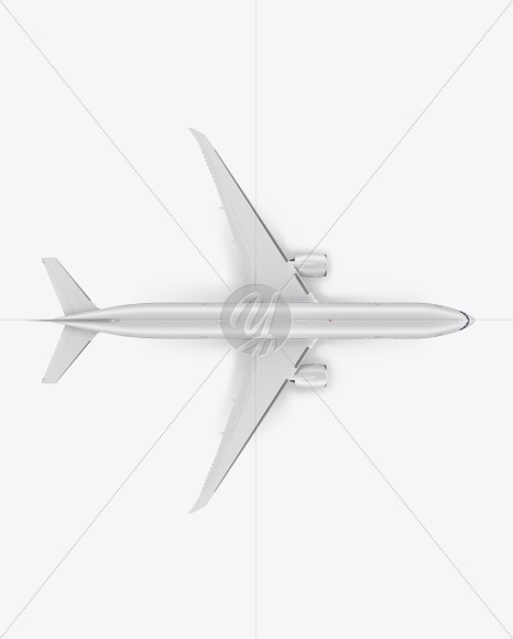 Airliner Mockup - Top View - Yellowimages Mockups