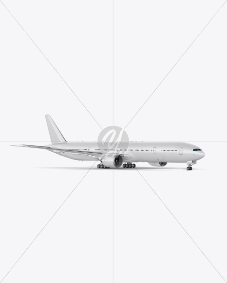Airliner Mockup - Half Side View - Yellowimages Mockups