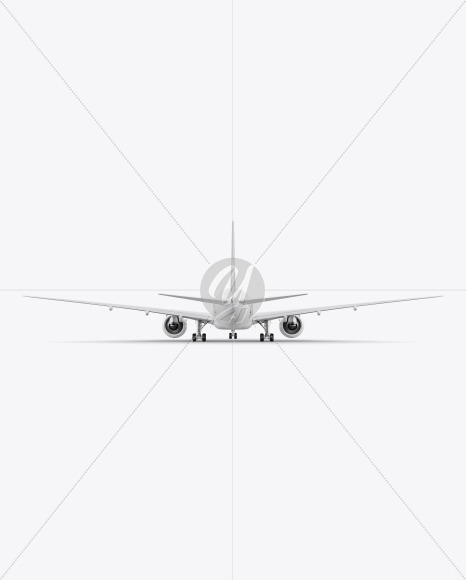 Airliner Mockup - Back View - Yellowimages Mockups