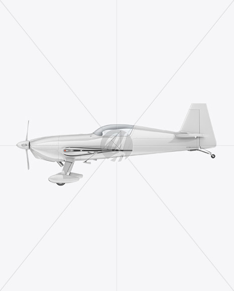 Sport Airplane Mockup - Side View - Yellowimages Mockups