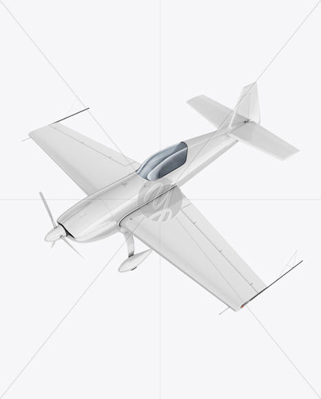 Sport Airplane Mockup - Half Side View - Yellowimages Mockups