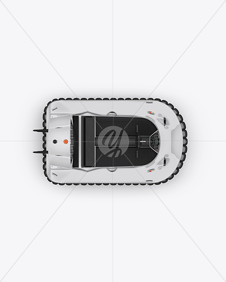 Hovercraft Mockup - Top View - Yellowimages Mockups