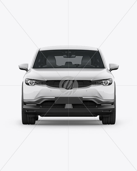 Compact Crossover SUV Mockup - Font View - Yellowimages Mockups