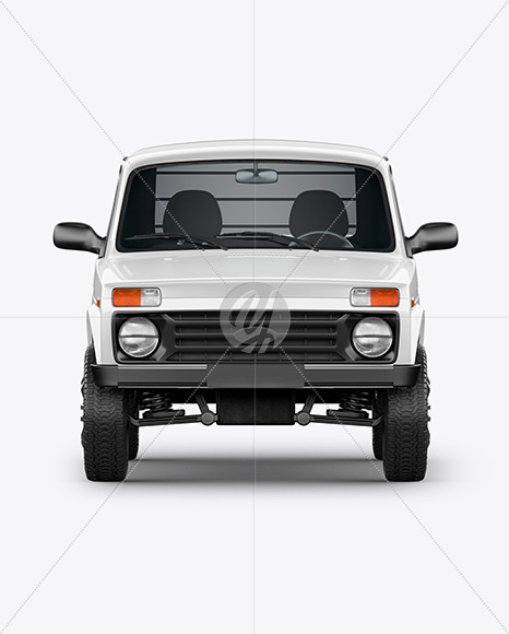 Pickup Truck Mockup - Front View - Yellowimages Mockups