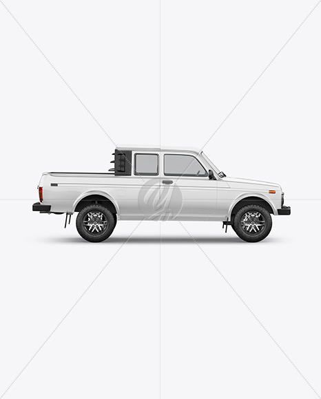 Pickup Truck Mockup - Side View - Yellowimages Mockups