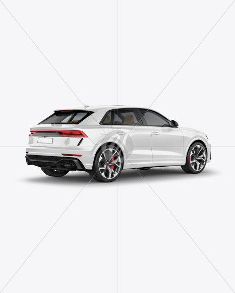 Coupe Crossover SUV Mockup - Back HalfSide View - Yellowimages Mockups