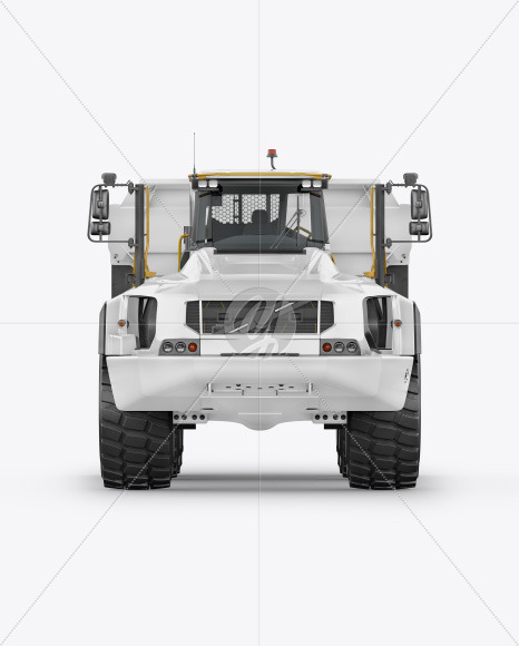 Articulated Hauler Mockup - Front View - Yellowimages Mockups