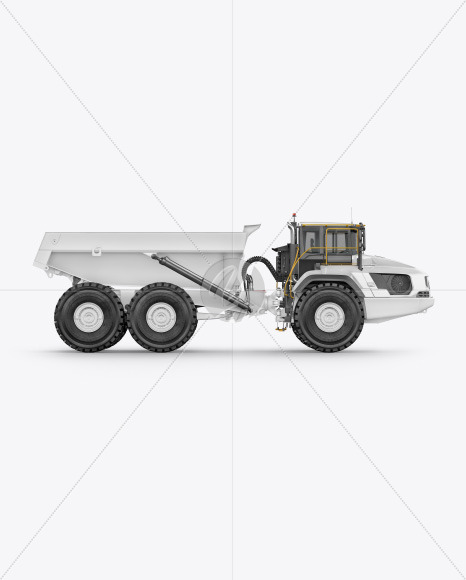 Articulated Hauler Mockup - Side View - Yellowimages Mockups