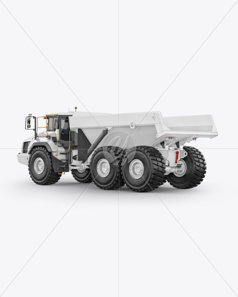 Articulated Hauler Mockup - Back Half Side View - Yellowimages Mockups